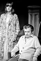 GETTING ON  by Alan Bennett  design: Julia Trevelyan Oman  director: Patrick Garland <br> Gemma Jones, Kenneth More a Theatre Royal Brighton production / Queen's Theatre, London W1  13/10/1971  (c)...
