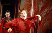 CORIOLANUS   by Shakespeare   director: Gregory Doran <br>,III/ii - l-r: Oliver Senton (Titus Lartius), William Houston (Coriolanus),Royal Shakespeare Company /  Royal Shakespeare Theatre, Stratford-u...