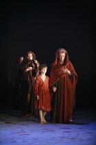 CORIOLANUS   by Shakespeare   director: Gregory Doran <br>,V/iii -front, l-r: Darlene Johnson (Valeria), Edward Statham (Young Martius), Janet Suzman (Volumnia),Royal Shakespeare Company /  Royal Shak...
