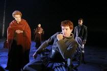 CORIOLANUS   by Shakespeare   director: Gregory Doran <br>,V/iii - front. l-r: Janet Suzman (Volumnia), William Houston (Coriolanus),Royal Shakespeare Company /  Royal Shakespeare Theatre, Stratford-u...