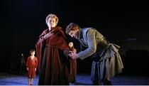 CORIOLANUS   by Shakespeare   director: Gregory Doran <br>,V/iii - front: Janet Suzman (Volumnia), William Houston (Coriolanus),Royal Shakespeare Company /  Royal Shakespeare Theatre, Stratford-upon-A...