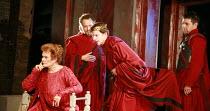 CORIOLANUS   by Shakespeare   director: Gregory Doran <br>,III/ii - l-r: Janet Suzman (Volumnia), Michael Hadley (Cominius), William Houston (Coriolanus), Oliver Senton (Titus Lartius),Royal Shakespea...