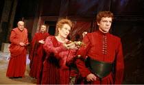 CORIOLANUS   by Shakespeare   director: Gregory Doran <br>,III/ii - l-r: Timothy West (Menenius), Michael Hadley (Cominius), Janet Suzman (Volumnia), (rear) Oliver Senton (Titus Lartius), William Hous...