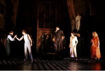 'THE COMEDY OF ERRORS' (Shakespeare) l-r: Tom Smith (Dromio of Ephesus), Anthony Howell (Antipholus of Ephesus), David Acton (Dr Pinch), Emily Raymond (Adriana), Jacqueline Defferary (Luciana) RSC/R...