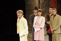 'THE COMEDY OF ERRORS' (Shakespeare - director: Barrie Rutter),l-r: Zoe Lambert (Adriana), Max Rubin (Merchant), Claire Storey (Luciana), Ruth Alexander-Rubin (Courtesan), Guy Parry (Angelo),Northern...