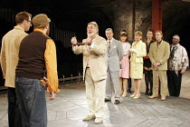 'THE COMEDY OF ERRORS' (Shakespeare - director: Barrie Rutter),final scene - centre: Barrie Rutter (Egeon),Northern Broadsides, Halifax / England                          23/02/2005,