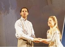 'THE COMEDY OF ERRORS' (Shakespeare - director: Nancy Meckler),Joe Dixon (Antipholus of Syracuse), Sinead Keenan (Luciana),Royal Shakespeare Company /  Royal Shakespeare Theatre, Stratford-upon-Avon,...