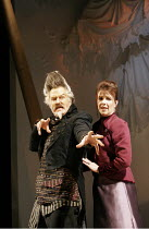 'THE COMEDY OF ERRORS' (Shakespeare - director: Nancy Meckler),Tom Hodgkins (Dr Pinch), Suzanne Burden (Adriana),Royal Shakespeare Company /  Royal Shakespeare Theatre, Stratford-upon-Avon, England...
