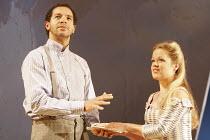 'THE COMEDY OF ERRORS' (Shakespeare - director: Nancy Meckler),Joe Dixon (Antipholus of Syracuse), Sin�ad Keenan (Luciana),Royal Shakespeare Company /  Royal Shakespeare Theatre, Stratford-upon-Avon,...