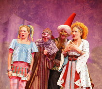 THE COMEDY OF ERRORS   by Shakespeare   director: John Bell,front left: Jody Kennedy (Luciana)   right: Blazey Best (Adriana),Bell Shakespeare Company / Australia   The Bath Shakespeare Festival 2006...