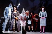 'THE COMEDY OF ERRORS' (Shakespeare)~at left: Peter McEnery (Antipholus of Ephesus), Henry Goodman (Dromio of Ephesus)   right: Zoe Wanamaker (Adriana)~Royal Shakespeare Company / Royal Shakespeare Th...