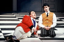 'THE COMEDY OF ERRORS' (Shakespeare)~l-r: Desmond Barrit (Antipholus of Ephesus/Syracuse), Graham Turner (Dromio of Ephesus/Syracuse) ~Royal Shakespeare Company / Royal Shakespeare Theatre, Stratford-...