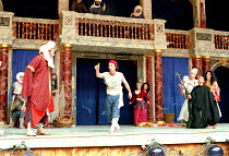 THE COMEDY OF ERRORS   by Shakespeare   design: Liz Cooke   Master of Verse: Tim Carroll  director: Kathryn Hunter <br>~left: Vincenzo Nicoli (Antipholus of Ephesus/Syracuse)   centre: Marcello Magni...