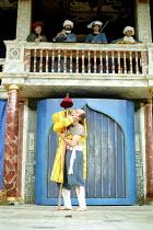 THE COMEDY OF ERRORS   by Shakespeare   design: Liz Cooke   Master of Verse: Tim Carroll  director: Kathryn Hunter <br>~Marcello Magni (Dromio of Syracuse/Ephesus)~Shakespeare's Globe, London SE1...