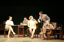 THE ENTERTAINER   by John Osborne   director: Sean Holmes <br>,l-r: Emma Cunniffe (Jean Rice), David Dawson (Frank Rice), Pam Ferris (Phoebe Rice), Robert Lindsay (Archie Rice), John Normington (Billy...