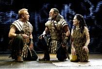 'ANTONY AND CLEOPATRA' (Shakespeare) l-r: Clive Wood (Enobarbus), Stuart Wilson (Antony), Sin�ad Cusack (Cleopatra) RSC/Royal Shakespeare Theatre, Stratford-upon-Avon         23/04/2002