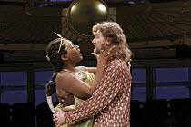 'ANTONY AND CLEOPATRA' (Shakespeare - director: Braham Murray), Josette Bushell-Mingo (Cleopatra), Tom Mannion (Antony),Royal Exchange Theatre, Manchester    28/02/2005,~(c) Donald Cooper/Photostage...
