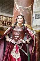 ANTONY AND CLEOPATRA   by Shakespeare   director/^Master of Play^: Dominic Dromgoole,Frances Barber (Cleopatra),Shakespeare's Globe, Bankside, London SE1    05/07/2006,