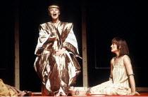 'ANTONY AND CLEOPATRA' (Shakespeare - director: Peter Brook)~Cleopatra puts the asp to her breast - l-r: Glenda Jackson (Cleopatra), Paola Dionisotti (Charmian)~Royal Shakespeare Company / Royal Shake...