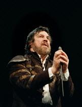 ANTONY AND CLEOPATRA  by Shakespeare  design: Yolanda Sonnabend  lighting: Hugh Vanstone  fights: Malcolm Ranson  director: Steven  Pimlott <br>~Alan Bates (Mark Antony)~Royal Shakespeare Company (RSC...