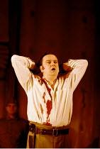 OTHELLO  by Shakespeare  design: Robert Jones  lighting: Peter Mumford  fights: Terry King  director: Michael Attenborough ~Richard McCabe (Iago)~Royal Shakespeare Company (RSC), Royal Shakespeare The...