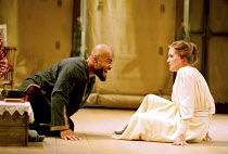 OTHELLO  by Shakespeare  design: Robert Jones  lighting: Peter Mumford  fights: Terry King  director: Michael Attenborough ~Ray Fearon (Othello), Zoe Waites (Desdemona)~Royal Shakespeare Company (RSC)...