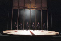 OTHELLO  by Shakespeare  design: Robert Jones  lighting: Peter Mumford  fights: Terry King  director: Michael Attenborough ~full stage, set, soldiers~Royal Shakespeare Company (RSC), Royal Shakespeare...