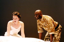 'OTHELLO' (Shakespeare)~Rebecca Johnson (Desdemona), Nicholas Monu (Othello)~Theatre Unlimited/Cochrane Theatre, London WC1               31/01/2002