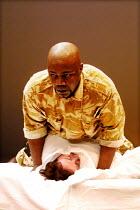 'OTHELLO' (Shakespeare)~Nicholas Monu (Othello), Rebecca Johnson (Desdemona)~Theatre Unlimited/Cochrane Theatre, London WC1               31/01/2002