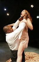 'OTHELLO' (Shakespeare - director: Declan Donnellan),Nonso Anozie (Othello), Caroline Martin (Desdemona),Cheek by Jowl / Riverside Studios, London W6              15/11/2004,