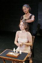 'OTHELLO' (Shakespeare - director: Declan Donnellan),(rear) Jaye Griffiths (Emilia), Caroline Martin (Desdemona),Cheek by Jowl / Riverside Studios, London W6              15/11/2004,