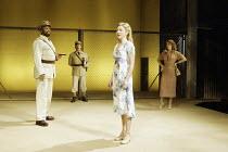 'OTHELLO' (Shakespeare - director: Gregory Doran)~l-r: Sello Maake ka Ncube (Othello), Antony Sher (Iago), Lisa Dillon (Desdemona), Amanda Harris (Emilia)~Swan Theatre / Royal Shakespeare Company   St...