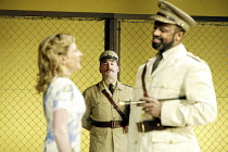 'OTHELLO' (Shakespeare - director: Gregory Doran)~l-r: Lisa Dillon (Desdemona), Antony Sher (Iago), Sello Maake ka Ncube (Othello)~Swan Theatre / Royal Shakespeare Company   Stratford-upon-Avon, Engla...