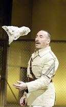 'OTHELLO' (Shakespeare - director: Gregory Doran)~Antony Sher (Iago) with Desdemona's handkerchief~Swan Theatre / Royal Shakespeare Company   Stratford-upon-Avon, England                 18/02/2004