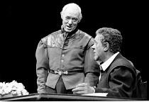 'OTHELLO' (Shakespeare)~Michael Bryant (Iago) with Paul Scofield (Othello)~National Theatre, London        1980