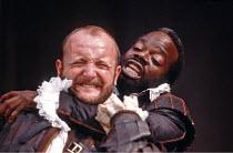 'OTHELLO' (Shakespeare - director: Michael Boyd),l-r: Philip Whitchurch (Iago), Joseph Marcell (Othello),Lyric Studio / Lyric Theatre Hammersmith   London W6                      1984,