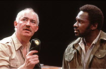 OTHELLO  by Shakespeare  design: Shelagh Keegan  director: David Thacker <br>~l-r: David Calder (Iago), Rudolph Walker (Othello) ~The Young Vic, London SE1  10/05/1984~(c) Donald Cooper/Photostage   p...