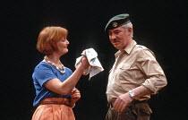 OTHELLO  by Shakespeare  design: Shelagh Keegan  director: David Thacker <br>~Alison Peebles (Emilia), David Calder (Iago)~The Young Vic, London SE1  10/05/1984~(c) Donald Cooper/Photostage   photos@p...
