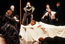 OTHELLO by Shakespeare  set design: Ralph Koltai  costumes: Alexander Reid  lighting: Terry Hands & Clive Morris  director: Terry Hands ~on bed: Ben Kingsley (Othello), Niamh Cusack (Desdemona)   rest...