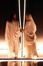 OTHELLO by Shakespeare  set design: Ralph Koltai  costumes: Alexander Reid  lighting: Terry Hands & Clive Morris  director: Terry Hands ~Ben Kingsley (Othello), Niamh Cusack (Desdemona) ~Royal Shakesp...