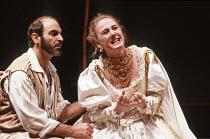 OTHELLO by Shakespeare  set design: Ralph Koltai  costumes: Alexander Reid  lighting: Terry Hands & Clive Morris  director: Terry Hands ~David Suchet (Iago), Niamh Cusack (Desdemona)~Royal Shakespeare...