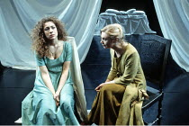 'OTHELLO' (Shakespeare - director: Bill Alexander)~l-r: Alex Kingston (Desdemona), Katy Behean (Emila)~Birmingham Repertory Theatre   09/03/1993 ~(c) Donald Cooper/Photostage   photos@photostage.co.uk...