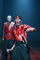 CORIOLANUS  by Shakespeare  design: Ti Green  lighting: Hartley T A Kemp  fights: Terry King  movement: Lorna Marshall  director: David Farr ~~l-r: David Killick (Cominius), Greg Hicks (Coriolanus)~Ro...