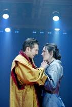 CORIOLANUS  by Shakespeare  design: Ti Green  lighting: Hartley T A Kemp  fights: Terry King  movement: Lorna Marshall  director: David Farr ~~Greg Hicks (Coriolanus), Hannah Young (Virgilia)~Royal Sh...