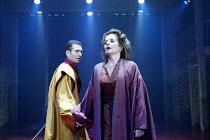 CORIOLANUS  by Shakespeare  design: Ti Green  lighting: Hartley T A Kemp  fights: Terry King  movement: Lorna Marshall  director: David Farr ~~Greg Hicks (Coriolanus), Alison Fiske (Volumnia)~Royal Sh...