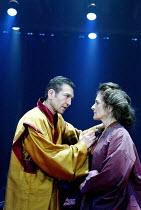CORIOLANUS  by Shakespeare  design: Ti Green  lighting: Hartley T A Kemp  fights: Terry King  movement: Lorna Marshall  director: David Farr ~Greg Hicks (Coriolanus), Alison Fiske (Volumnia)~Royal Sha...