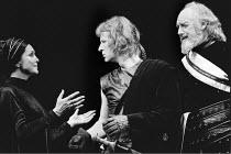 'CORIOLANUS' (Shakespeare)~l-r: Maxine Audley (Volumnia), Alan Howard (Coriolanus), Graham Crowden (Menenius)~RSC / RST  1977