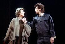 'CORIOLANUS' (Shakespeare - director: Peter Hall)~Irene Worth (Volumnia), Ian McKellen (Coriolanus)~National Theatre / London, England                    1984