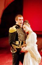 'CORIOLANUS' (Shakespeare)~Toby Stephens (Coriolanus), Monica Dolan (Virgilia)~Royal Shakespeare Company/Barbican Theatre, London EC2   10th August 1995