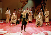 'CORIOLANUS' (Shakespeare)~centre: Toby Stephens (Coriolanus)~Royal Shakespeare Company/Barbican Theatre, London EC2   10th August 1995